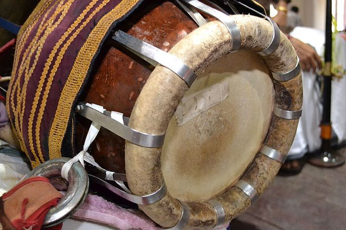 thavil - carnatic music instrument